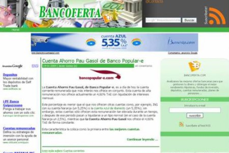 BancOferta, ofertas bancarias