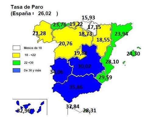 Paro en España