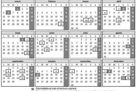 Calendario laboral en España para el 2015
